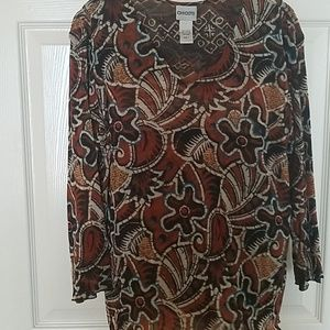 Pretty tunic with browns and black